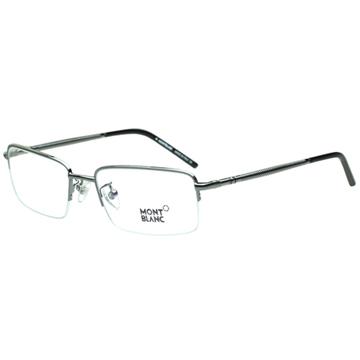 萬寶龍MONTBLANC-時尚光學眼鏡(槍色)MB252