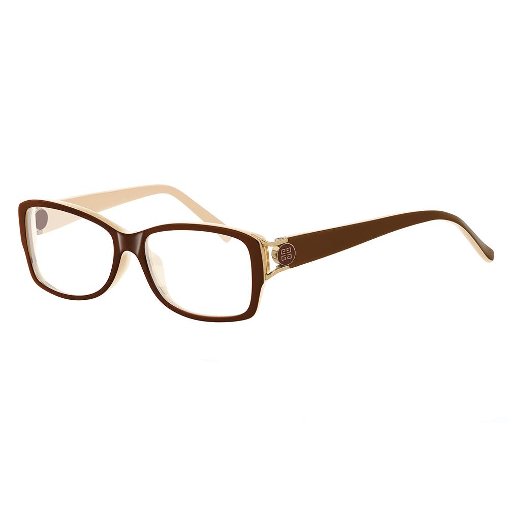 GIVENCHY 法國魅力紀梵希經典LOGO都會時尚光學眼鏡(棕) GIVGV74609WL