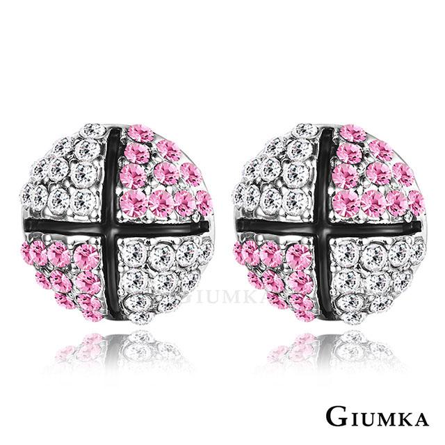 【GIUMKA】滾動愛情耳針式耳環 粉水晶 MF4089-1