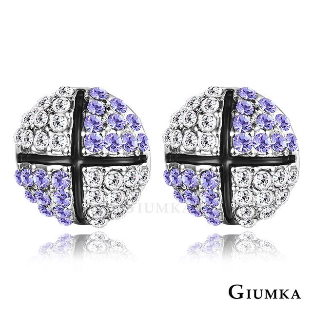 【GIUMKA】滾動愛情耳針式耳環 紫水晶 MF4089-4