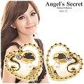 【Angel's Secret】芭比Q甜心公主水晶珍珠耳環-金色