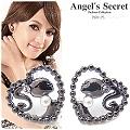 【Angel's Secret】芭比Q甜心公主水晶珍珠耳環-黑色