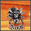 ARES 『THE  SPIDER』-白  白鋼造型雙頭耳針 【單顆販售】【潮流限量商品】