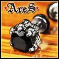 ARES 【極惡-黑】 白鋼耳環【潮流限量商品】【單顆販售】
