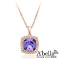 【A'bella浪漫晶飾】愛慕方晶水晶-藕荷紫項鍊
