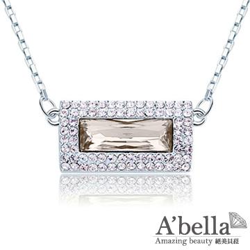 【A'bella浪漫晶飾】方怡-銀色魅影水晶項鍊