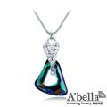 【A'bella浪漫晶飾】藍幻之光-七彩色水晶項鍊