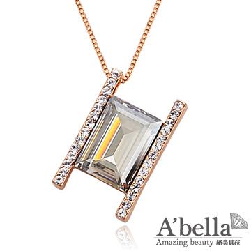 【A'bella浪漫晶飾】戀愛方晶-銀色夜影水晶項鍊