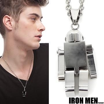 【Iron Men】德意志鋼鐵人˙機器人珠寶白鋼項鍊(銀系)