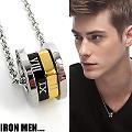 【Iron Men】羅馬假期˙三色金圓輪珠寶白鋼項鍊(男款)