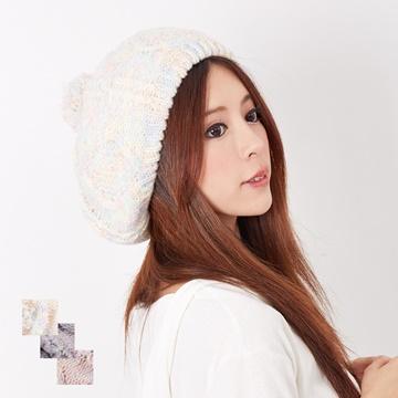 【One Mall】MIT台灣製 發熱雙層內裡 毛球貝蕾帽針織帽 (三色可選)