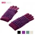 【MIT台灣製】雙層內裡羽毛紗針織保暖手套 -緹花款(四色可選)