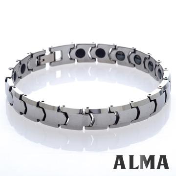 【ALMA】日系潮流.子彈簡約鎢鋼手鍊