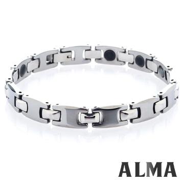 【ALMA】自信美感.經典簡約款鎢鋼手鍊-細版