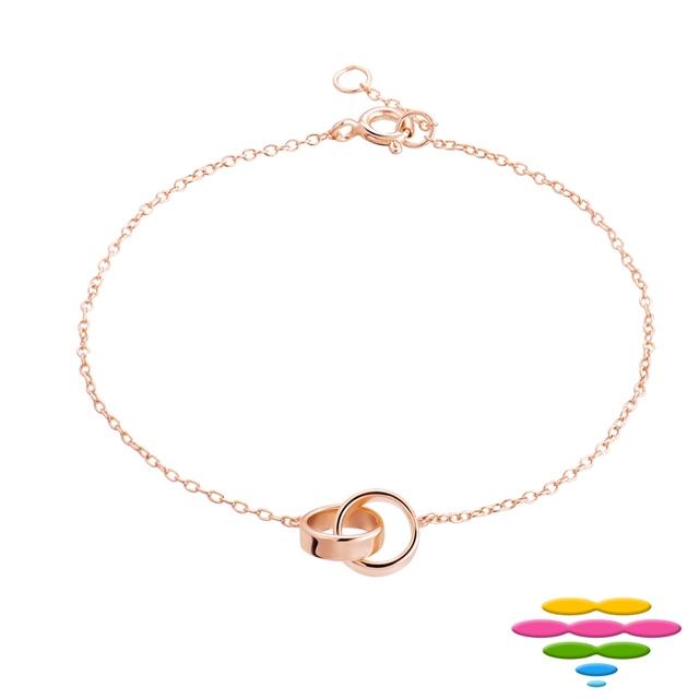 彩糖鑽工坊 桃樂絲系列銀飾 玫瑰金純銀手鍊HAG-BS07