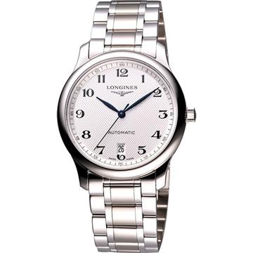 LONGINES 巨擘系列大三針日期機械錶(L26284786)-鋼帶