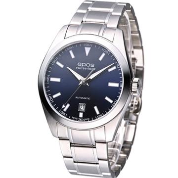 EPOS 簡約時尚 自動上鍊機械錶 (3411.131.20.16.30)深藍色
