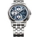 Maurice Lacroix 奔濤系列 帥氣三眼計時機械錶(藍/鋼帶-43mm)_PT6188-SS002-430