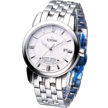 TITONI Master Series 天文台認證機械腕錶 83588S-358 白色