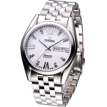 TITONI Airmaster 空霸機械腕錶 93709S-385 白