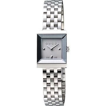 GUCCI G-Frame 系列小錶徑女仕腕錶-銀 (YA128402)