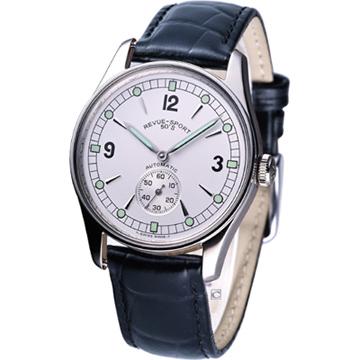 Revue Thommen 獨立式小秒針 紳士機械腕錶-(15001.2532)白面皮帶款