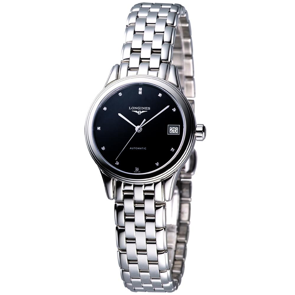 LONGINES 旗艦系列真鑽機械錶女錶 (L42744576)-黑