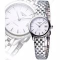LONGINES 浪琴 旗艦系列典藏機械女錶-銀 L42744126
