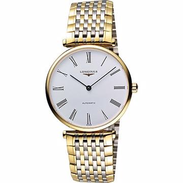 LONGINES 嘉嵐系列經典機械腕錶-白x雙色版 L47082117