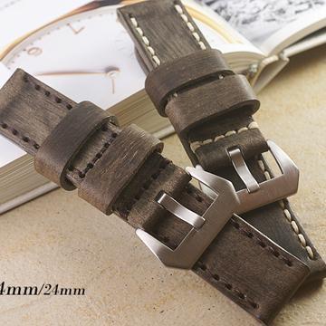 Panerai 沛納海.軍錶.運動錶 代用 手工限量復古款錶帶 ( 26mm.24mm )