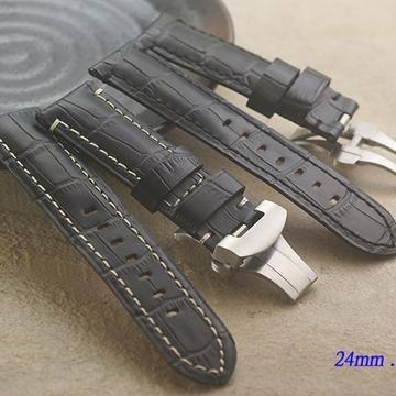 Panerai 沛納海 代用 進口高級摺疊扣錶帶2 ( 24mm.22mm)