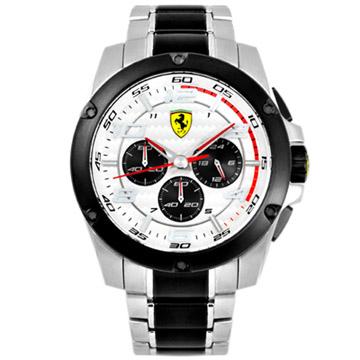 FERRARI Paddock 法拉利計時腕錶-白/46mm FA0830034