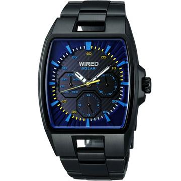 WIRED HYBRID 日雜時尚腕錶(V14J-X004K)-IP黑