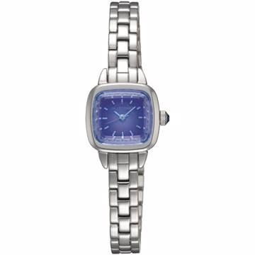 【JILL STUART】Ring Square系列優雅時尚方型錶款 (銀/藍紫面 JISILDV003)