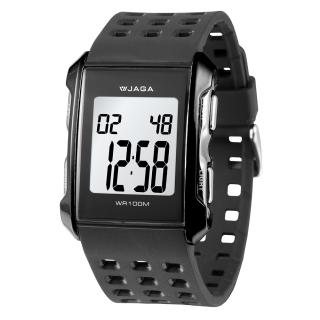 JAGA 捷卡 M807-A 都會熱活甜心 多功能電子錶(黑色)