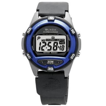 JAGA捷卡 M267防水多功能運動電子錶-藍