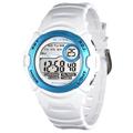 JAGA捷卡M876B馬卡龍多功能防水運動電子錶 -白藍
