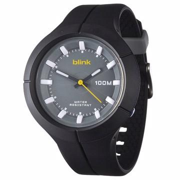 JAGA捷卡 blink系列 維他命蔬果冰沙石英運動錶-AQ1008(黑色)