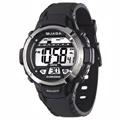 【JAGA 捷卡】M1048繽紛炫麗多功能防水100米運動電子錶(黑色)