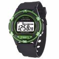 JAGA捷卡 M267防水多功能運動電子錶-黑綠