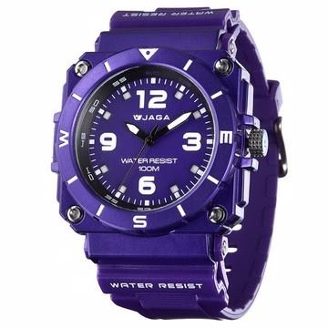 JAGA捷卡石英冷光運動錶AQ934-紫