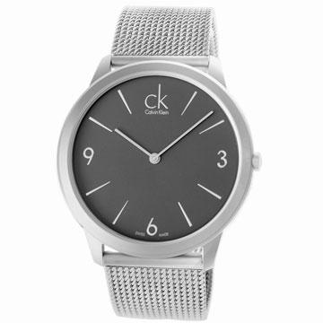 cK minimal 新版經典米蘭帶灰面腕表-35mm
