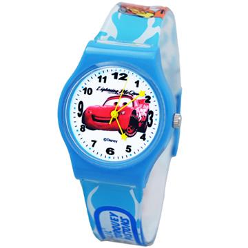 Cars2 世界大賽-閃電麥坤膠錶/卡通錶/兒童錶/中性錶-紅車(大型)