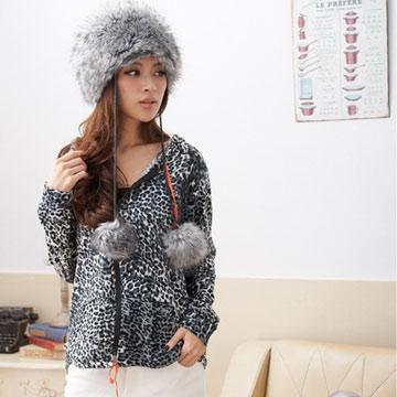 【ceres席瑞絲】豹紋元素棉織連帽薄外套