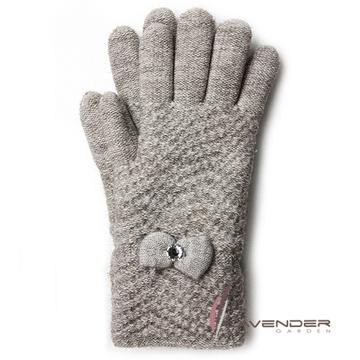 Lavender-優雅名媛雙層手套-褐色