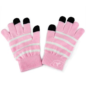 Lus.G 暖呼呼觸控螢幕保暖手套-粉紅色