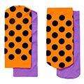 瑞典進口【Happy Socks】橘黑圓點+紫色短襪兩對組