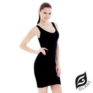 GLANZ 格藍絲 280丹曲線女王-奈 米級藍寶美型纖體雕塑衣-時尚黑