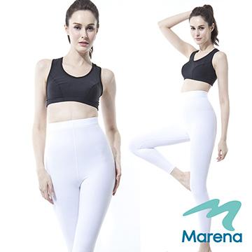 【美國原裝Marena】九分高腰提臀塑身褲/顯瘦機能內搭褲★白★