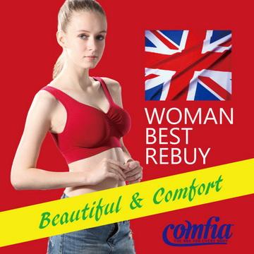 TV熱銷英國comfia經典款超輕感無痕內衣一入-紅色